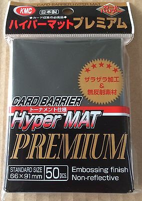 KMC Hyper Mat Premium Black Sleeves - Card Barrier 50pcs Japanese - YuGiOh