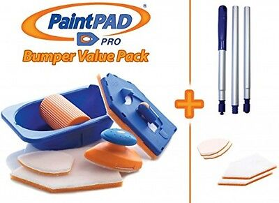 Paint Pad Pro Bumper Paint Pad Set C/w Optional Extension Pole And 4 Additional