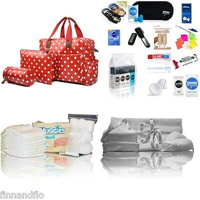 LUXURY 4-pc baby changing pre-packed hospital maternity bag Mum&Baby - NEXT DAY