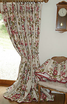 SUMPTUOUS CURTAINS & PELMET English Country House BLANKET INTERLINED *MASSIVE*