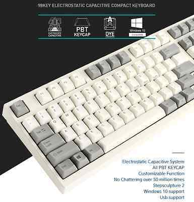 Leopold FC980C Electrostatic Capacitive Switch Keyboard Dye-Sublimated White PBT