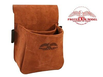 Protektor Model - New #23B Suede Trap & Skeet Shooting Leather Bag - Made In Usa