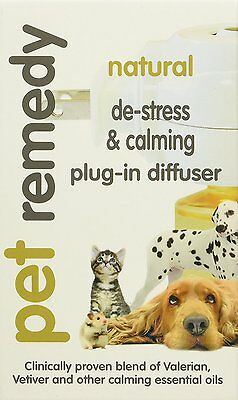 Pet Remedy Natural De-Stress & Calming Plug-In Diffuser For Cats & Dogs - 40 ml