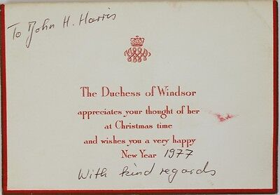 The Duchess of Windsor Christmas Card