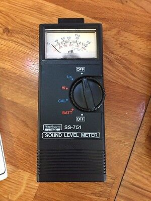 Sound Level Meter Retro Eurisem Technics SS-751 With Case & Operating Manual