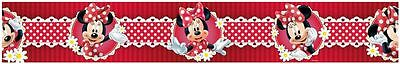 MINNIE MOUSE SELF-ADHESIVE 5m WALLPAPER BORDERS NEW