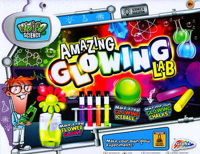 Grafix Glowing Lab Weird Science Set for Kids Fun Experiments Kit