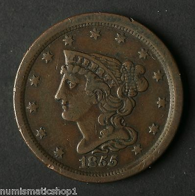 1855 Braided Hair Half Cent, Full Liberty, Ungraded Early American Coin