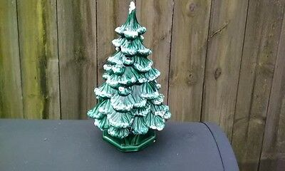 "Vintage Ceramic Christmas Tree 11 1/2"" No Lights"