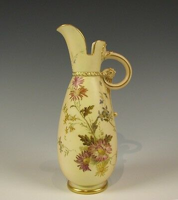Royal Worcester English Porcelain Hand Painted small Pitcher Antique