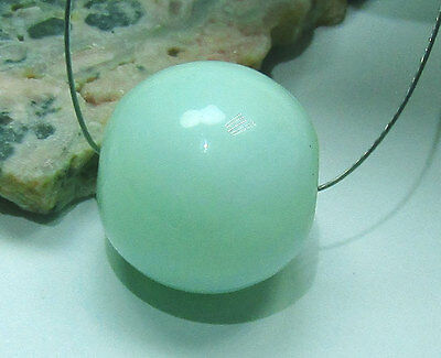 AWESOME AAA NATURAL AUSTRALIAN SOFT APPLE GREEN CHRYSOPRASE ROUND BEAD 16mm