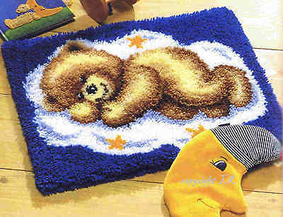 Vervaco Knotted Carpets ca.50x40 cm -Dreamer BEAR - TEDDY knot yourself -38012