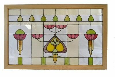 Antique Arts And Crafts Stained Glass Window