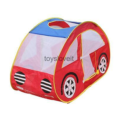 Portable Pop Up Car Shapes Play Tent Kids Indoor Outdoor Ball Pit Hut Toy