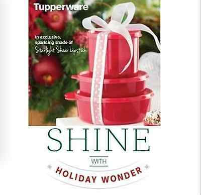 Tupperware BIG WONDERS 3-pc SET~Sparkle & Shine Red Storage Containers New
