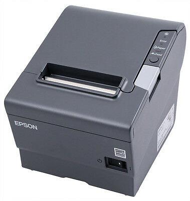 Epson TM-T88V Thermal Receipt Printer, USB/Ethernet Interface, Dark Grey