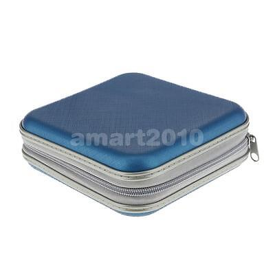 40 Disc CD/VCD/DVD Protective Organizer Storage Bag Carrying Package Blue