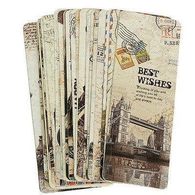 30pcs Paris Eiffel Tower Vintage Retro Paper Book Mark Bookmark Book Label ITBU