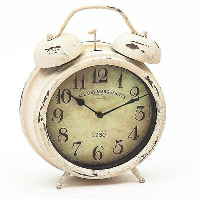 Watch Kitchen clock Office Country house Vintage Shabby Chic round Metal Antique
