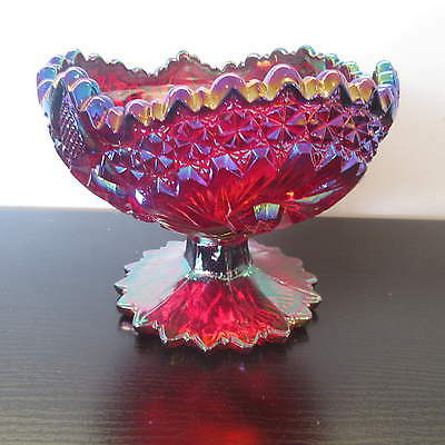 FENTON CARNIVAL GLASS BOWL ON FOOTED PEDASTOL BASE, Bn1