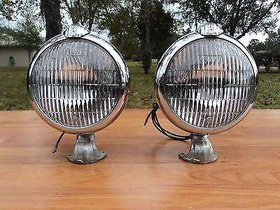 Vintage 1942 1946 1947 1948 Lincoln Accessory Road Lamps Nos