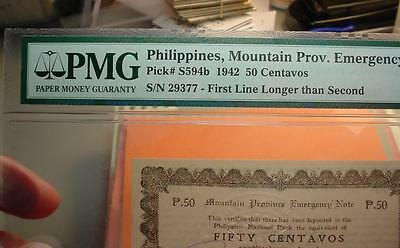Philippines Note Ww11 Mountain Province Emergency Pmg-64 <>Df3547