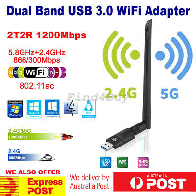 AC600 Dual Band USB WiFi Dongle 5G/2.4GHz 433M/150Mbps Wireless Adapter 802.11ac