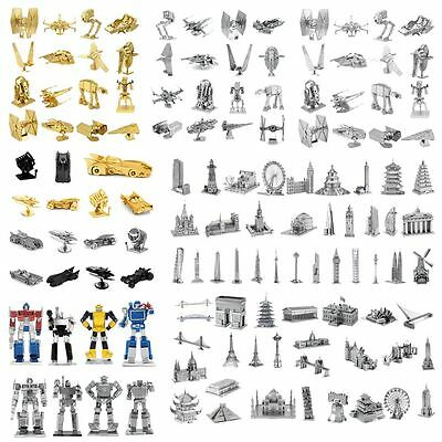 Various Models 3D Metal Puzzle Laser Cut Jigsaw Assembly DIY Kids Education Toy