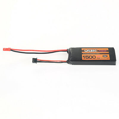 2S 7.4V 1500mAh 25C Lipo Battery Pack Universal JST For RC Drone Quadcopter