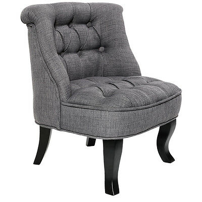 Lorraine Chair French Provincial Kid Fabric Sofa Misty Grey