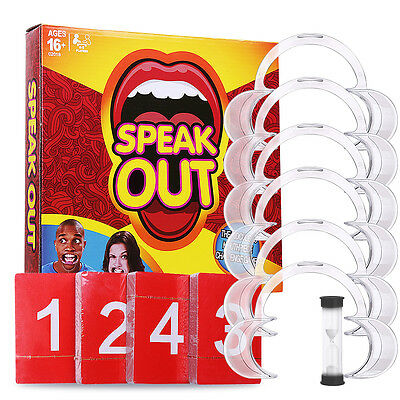 Speak Out Funny Board Mouthguard Challenge Game Birthday Gift Party Toys AU Ship