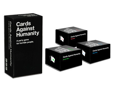 Cards Against Humanity AU Main Set + Blue, Red, Green Expansion Boxes