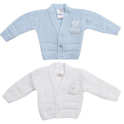 Newborn Baby Boys Crochet Knitted Cardigan Christening Wedding Party 0-6 Months