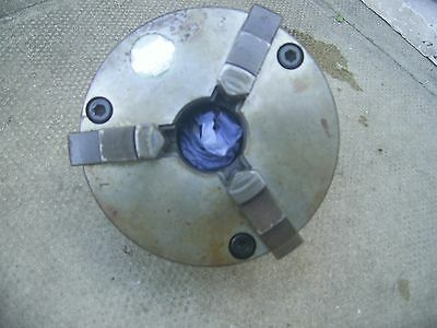 3 Jaw Lathe Chuck D13,( Burnerd ) was fitted on a colchester lathe