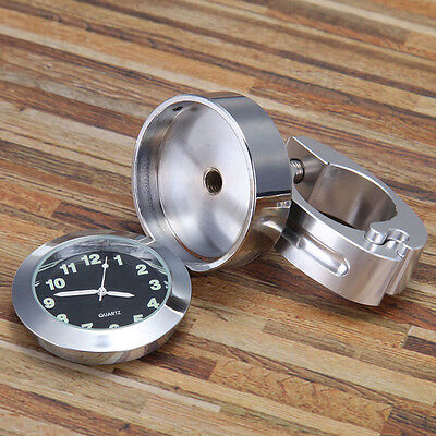 Motorcycle Bicycle Bike Vintage Aluminum Alloy Handlebar Harley Scooter Clock