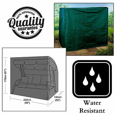 Large Durable Waterproof Green 3 Seater Swinging Garden Hammock Protection Cover