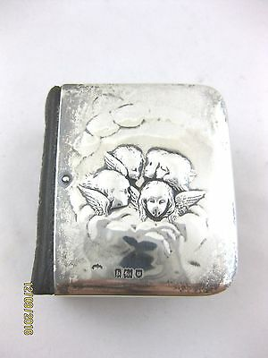 Antique SOLID SILVER COVER   MINIATURE HYMNS & COMMON PRAYER  H/mark LONDON 1903
