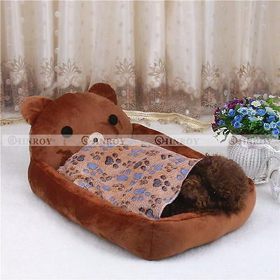 Dogs Cats Pet Blanket Warm Dog Bed Mat Cover Fleece Towel Paw Print Beds
