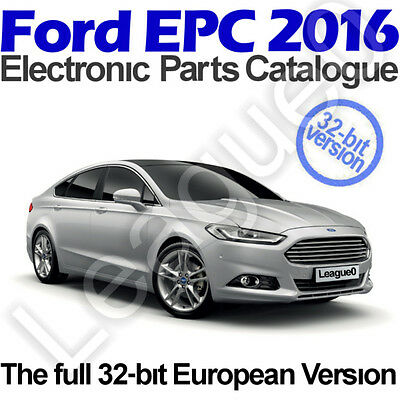 Ford EPC 01/2016 Electronic Parts Catalogue. 32-bit systems only. January 2016