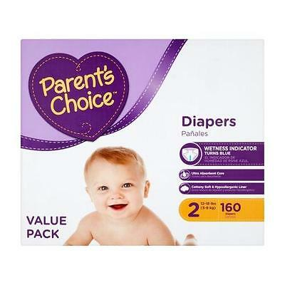 Parent's Choice Diapers, Size 2 (Choose Diaper Count) | 160 Diapers