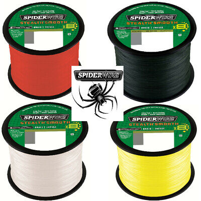 (0,08 €/ m) Spiderwire Stealth Smooth 8 ab 100m Green,Yellow,Red und Translucent