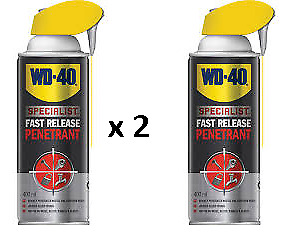 2 x WD40 Specialist Fast Release Penetrant 400ml  Lubricant