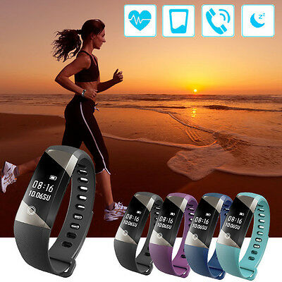 OLED Bluetooth Smart Watch Bracelet Wristband Heart Rate Pedometer Fitness Track