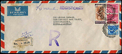 India 1972 Registered Commercial Cover To Austria #C39184