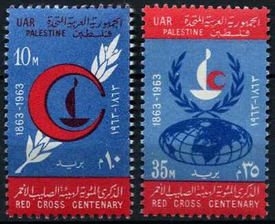 Gaza, Palestine 1963 SG#128-9 Red Cross Centenary MNH Set #D39504