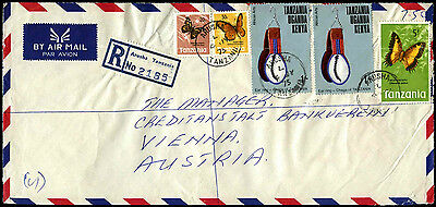 Tanzania 1975 Registered Airmail Commercial Cover To Austria #C38924