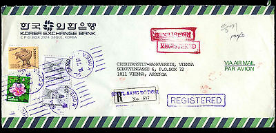 South Korea 1987 Registered Airmail Commercial Cover To Austria #C38963