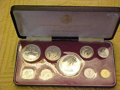 1971 Bahamas Proof Set 9 Coins w 4 Silver Coins