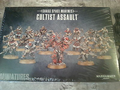 Warhammer 40K Chaos Space Marine Cultist Assault - New & Sealed