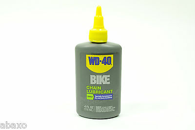 WD40 Bicycle Chain Lubricant Dry Conditions Bike Lube 4oz Drip Bottle WD-40